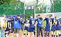 Oben steht, warum unten die Köpfe hängen: Große Enttäuschung bei der gesamten Mannschaft des 1. FC Garmisch-Partenkirchen nach der 1:2-Heimpleite gegen Sonthofen.