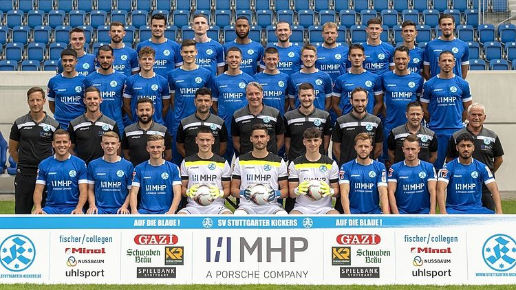 Stuttgarter Kickers Mannschaftsfoto 2021/22